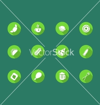 Free food icons set vector - Free vector #236893