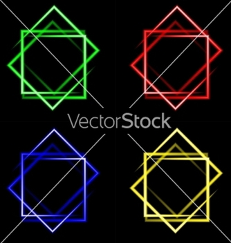 Free set of multicolored neon square background with vector - бесплатный vector #236943