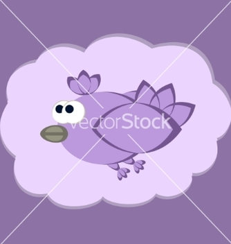 Free funny flying bird vector - Free vector #237023