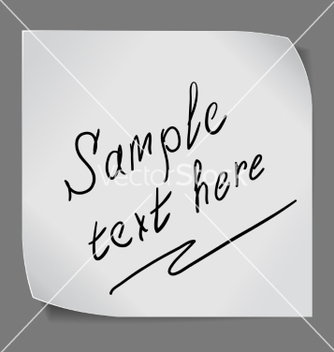 Free paper sticker over grey background vector - Kostenloses vector #237143