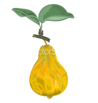Free pear yellowgreen and sheet vector - Kostenloses vector #237163