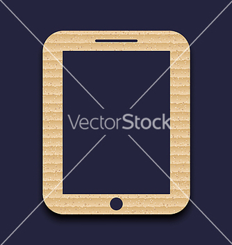 Free abstract carton paper tablet pc isolated on dark vector - Kostenloses vector #237173
