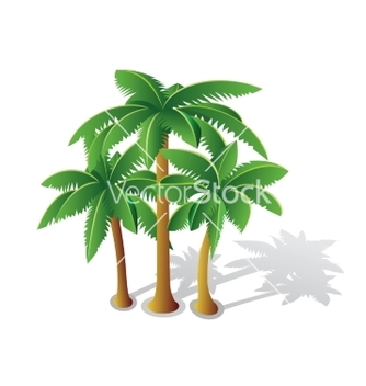 Free tropical palms vector - Kostenloses vector #237203