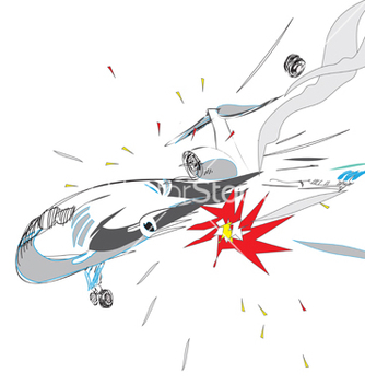 Free plane crash vector - Free vector #237223