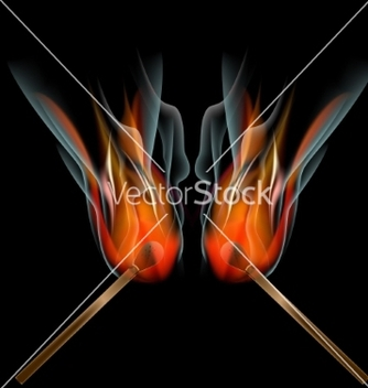 Free burning match on black background vector - бесплатный vector #237343
