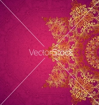 Free purple ornate vintage wedding card background vector - Free vector #237393