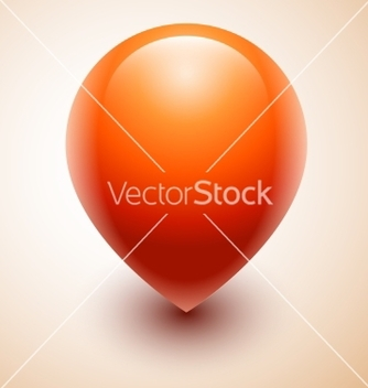 Free orange map location pointer icon vector - vector #237413 gratis