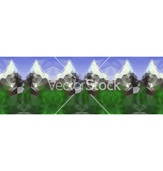 Free polygonal seamless pattern with mountains vector - Kostenloses vector #237553