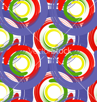 Free seamless texture with color circles vector - Kostenloses vector #237603