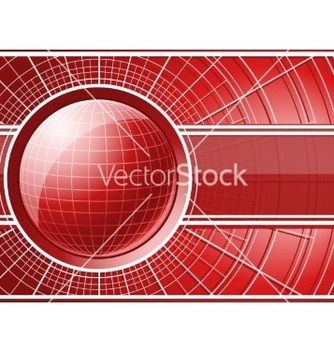 Free red background with globe vector - бесплатный vector #237633