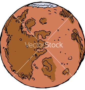 Free planet mars vector - Free vector #237683