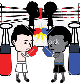 Free boxing cartoon vector - vector gratuit #237713