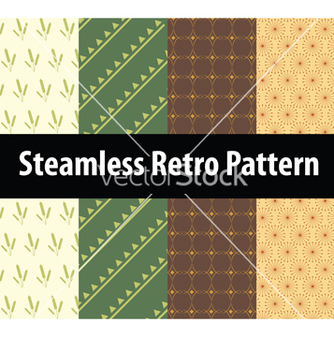Free steamless retro pattern vector - Free vector #237733