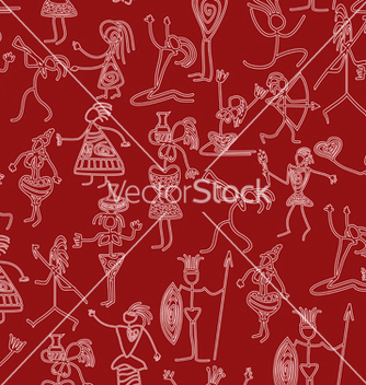 Free seamless with primitive people vector - Kostenloses vector #237773
