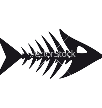 Free primitive fish skeleton vector - Free vector #237783
