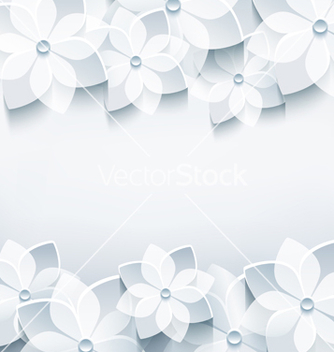 Free abstract holiday background with 3d sakura vector - Free vector #238043