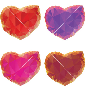 Free polygonal hearts set4 vector - Free vector #238073