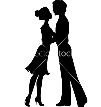 Free silhouettes of man and woman vector - vector #238083 gratis