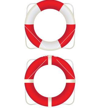 Free two lifesavers vector - Kostenloses vector #238253