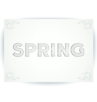 Free spring embossed inscription vector - vector #238353 gratis