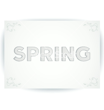 Free spring embossed inscription vector - Free vector #238353