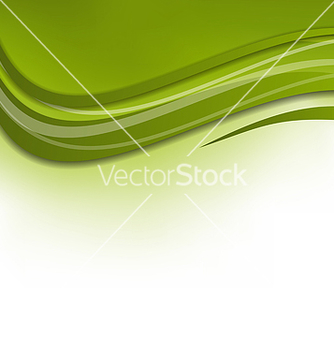 Free green wawy background design template vector - vector #238413 gratis