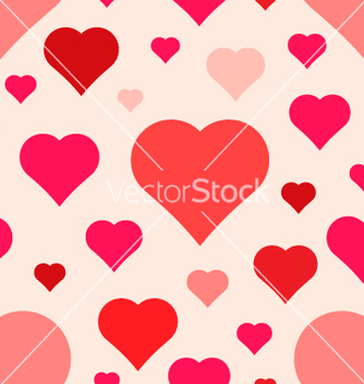 Free abstract seamless hearts pattern vector - Free vector #238483