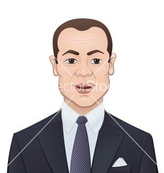 Free businessman in a suit and tie on white background vector - Free vector #238503