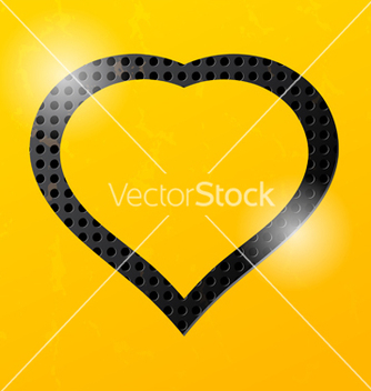 Free yellow technological background and heart vector - Kostenloses vector #238553