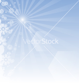 Free winter background with rays vector - vector #238573 gratis