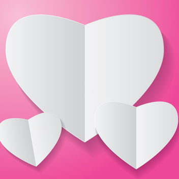 Free paper heart on pink background vector - Free vector #238633