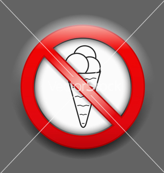 Free no ice cream sign vector - vector #238653 gratis