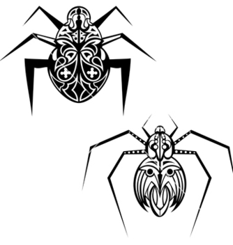 Free spider tattoo vector - Free vector #238773