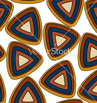 Free seamless pattern with triangular elements vector - vector #238803 gratis