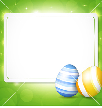 Free card for easter with eggs vector - vector gratuit #238853