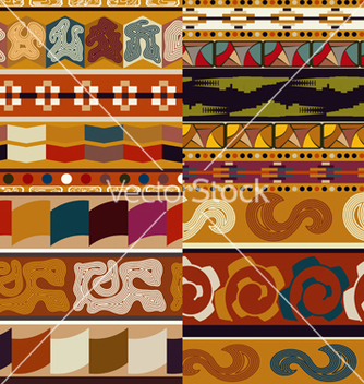 Free set graphic seamless ethnic textures vector - Free vector #238893