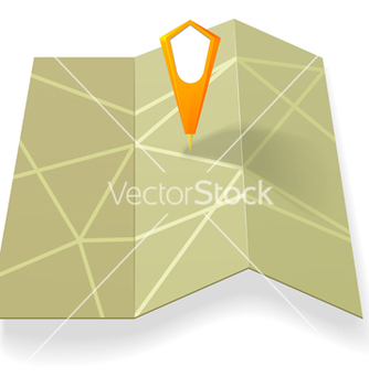 Free street map with yellow pointer vector - vector #238923 gratis