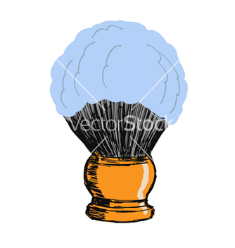 Free shaving brush vector - Free vector #238943