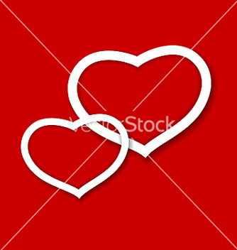 Free red paper hearts valentines day card vector - Free vector #238963
