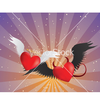Free good and evil hearts background vector - vector gratuit #238973