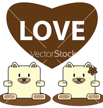 Free dog in love vector - Kostenloses vector #239033