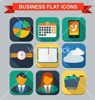 Free business infographic flat design vector - Free vector #239103