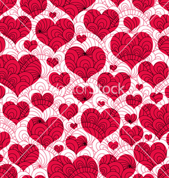 Free valentine background with red hearts vector - Free vector #239143