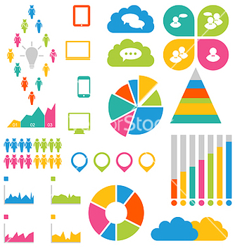 Free infographic social group design elements vector - vector #239173 gratis