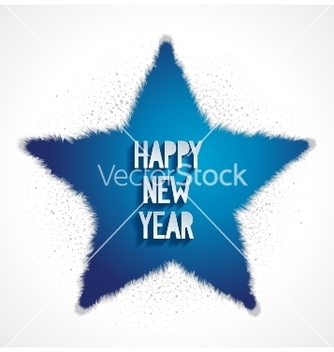 Free happy new year greeting card with 3d star vector - Free vector #239223