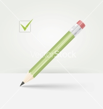 Free green wooden pencil vector - vector gratuit #239233