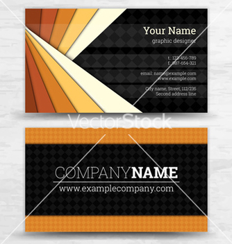 Free premium business card set eps10 vector - Kostenloses vector #239343