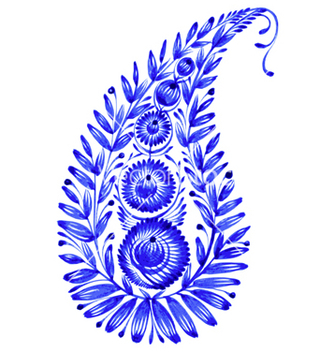 Free blue flower composition vector - vector #239673 gratis