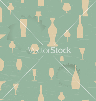 Free seamless pattern with silhouettes of the dishes vector - Free vector #239733