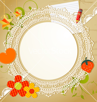 Free vintage card with lace vector - Free vector #239743
